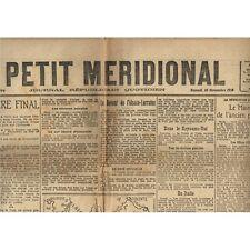 Le PETIT MÉRIDIONAL LuneL Cette St Génies Pérols Villeveyrac Poussan 16 Nov 1918