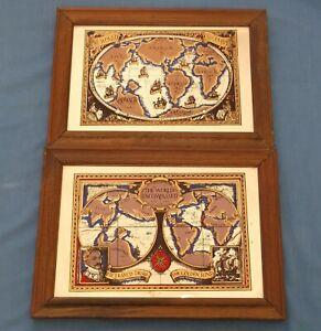 VINTAGE GOLDEN HIND FRANCIS DRAKE WORLD DISCOVERED ENCOMPASSED 1577-1580 MIRRORS