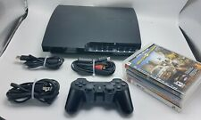 Playstation 3 PS3 320GB CECH-2501B BUNDLE w Controller Cords & 4 Games