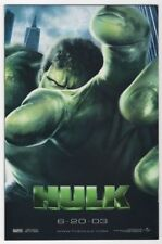 ERIC BANA THE INCREDIBLE HULK 2003 27X41 AUTHENTIC DOUBLE SIDED THEATRE POSTER