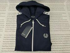 Fred perry chaqueta de pista para hombre con capucha con cinta Ropa deportiva Pantalones C. Azul Talla M Top BNWT R £ 90