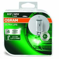 Osram H7 55W 12V Ultra Life Bulbs 4 x longer lifetime 64210ULT-HCB Pair