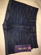 New-Cherokee Girl's Rolled Cuff Shorts - Dark Blue - Size: Small (6/6X)