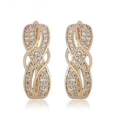 Ohrringe Ohrhänger Zirkonia weiß 750er Gelbgold 18 Karat vergoldet O3057L