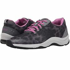 VIONIC  'Action Tourney' Ladies Lace-Up Gray Leop  Walking Shoe  Sz. 9.5 W  NIB