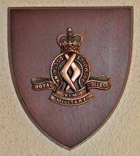 Royal Military College Duntroon regimental mess plaque shield crest RMC