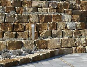 1 to Formsteine Wesersandstein ca. 40/x/x grau-bunt, Naturstein, Trockenmauer