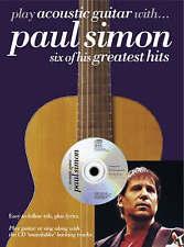 Play Acoustic Guitar with Paul Simon Songbook Music Book Tabs Lyrics CD S46