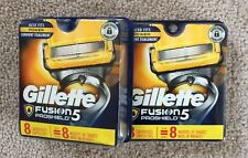 Two packages Gillette fusion 5 proshield razor blades 8 cartridges never opened.