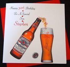 Handmade Personalised Birthday Card 18th 21st 30th 40th 50th Son Grandson Husban