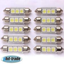 10 Stück LED Soffitte Canbus 42mm 3 x 5050 SMD c10w  weiß Innenraum Beleuchtung