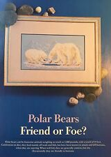 Cross Stitch Pattern Polar Bear Mother and Child Picture Wildlife Animal Chart
