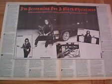 BLACK SABBATH (Dio) Black Christmas 2 page ARTICLE / clipping 1981 16X24""