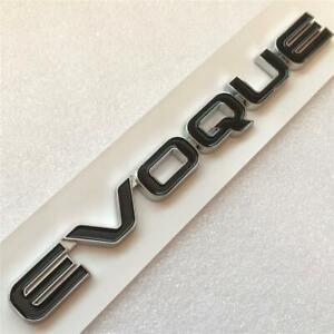 BLACK CHROME Evoque badge rear Boot tailgate for Range Rover Dynamic Pure