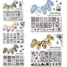 5Pcs/set BORN PRETTY Christmas & Halloween Nail Art Stamp Plates Manicure DIY