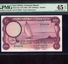 East Africa 100 Shillings 1964 P-48a * PMG XF 45 EPQ * Last Note * Last Issue *