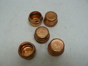 """Viega 77722 1"""" ProPress Copper Cap lot of 5 new"""