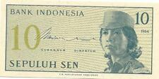 INDONESIA 10 Sen P - 92; UNC from 1964; 50+years old ~FREE SHIPPING Canada / USA