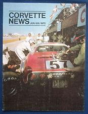 Prospekt brochure Corvette News Jun / Jul 1972 (USA)