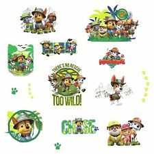 PAW PATROL JUNGLE Wall Decals Dogs Puppies Room Decor Stickers CHASE RUBBLE NEW