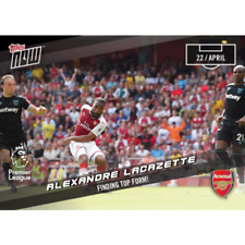 2018 ALEXANDRE LACAZETTE FINDING TOP FORM TOPPS NOW ARSENAL PL CARD #154 +TOPLDR