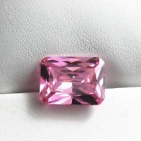 Pink Zircon 13x18mm 26.72Ct Emerald Cut AAAAA VVS Loose Gemstone