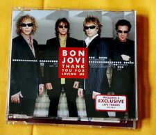 Bon Jovi  Thank You For Loving Me 4 tracks cd single hard rock glam pop
