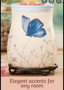 """Scentsy """"FREE TO FLY"""" Butterfly 🦋Wax Warmer  - white Ceramic NEW SPRING /summer"""