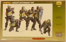 Zvezda 1/35 Russian Anti Terrorist Unit Figure Model Kit 3598