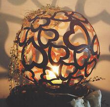 HERZ KUGEL 40 cm Edelrost Rost Ball Herzen Valentinstag Kerze Dekoration