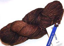 MARRON OSCURO Lg Skein 210yd Malabrigo WORSTED Pure Kettle-Dye MERINO SOFT YARN