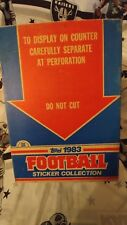 1983 Topps Football Album Sticker Boxes Case With 2 Complete Box Card Sets RARE!