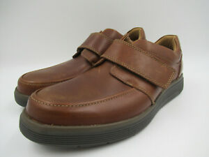 Clarks Brown Leather Size UK 11 EU 46 Strapped Shoes C1367