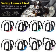 Pawaboo Dog Safety Vest Harness Pet Car Adjustable Vehicle Seat Belt For Driving