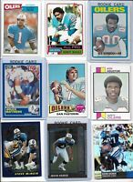 Houston Oilers Vintage Lot (30) Different w/ Rookies Kearse Pastorini Moon EX