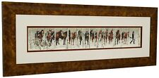 BEV DOOLITTLE Two Indian Horses Matted Framed Art Print Beautiful Burlwood Frame