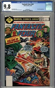 Fantastic Four #199 CGC 9.8 NM/MT RARE Whitman Variant WHITE PAGES