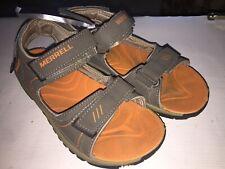 Merrell Boys Panthers Sport Sandal Gunsmoke Orange Kids Junior Size 3M Us
