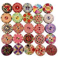50pcs 2 trous feuille vintage boutons de couture en bois Scrapbooking à la main.