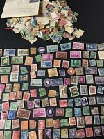 Large Lot of Vintage Worldwide Foreign & US Postage Stamps ~ 1950s