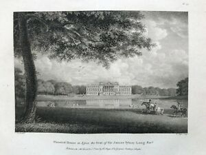 1800 Antique Print; Wanstead House, Redbridge, London after Cooke