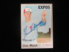 Gene Mauch Autographed 1970 Topps #442 Montreal Expos Card