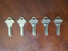 Original Schlage Key Blanks C Keyway Sc1 5 Pin Set Of Five 5 Keys