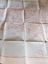 Brittany West section . Carte Routière Pour Cyclistes & Automobiles c.1900 RC.14