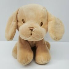 Kellytoy Puppy Dog Rattle Plush Tan Embroidered eyes crinkly ears 8""