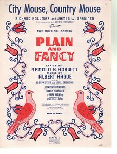 Selection 1954 Plain and Fancy Sheet Music