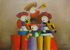 "12x16""(31x41cm)100% hand painted oil flat , ,Boy/Child/Angel/Musican/Music"