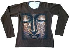 Wow or Bouddha statue religion CREATEUR tatouage star poster image long t-shirt M