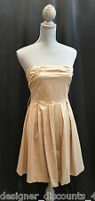 CHARLOTTE RUSSE gold shimmering evening cocktail clubwear party mini Dress SZ S