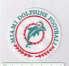 Miami Dolphins 5.5 inch embroidered NFL jacket patch > football